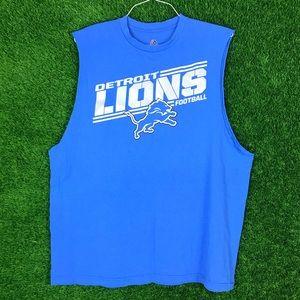 Majestic Detroit Lions NFL Football Tank Top Shirt